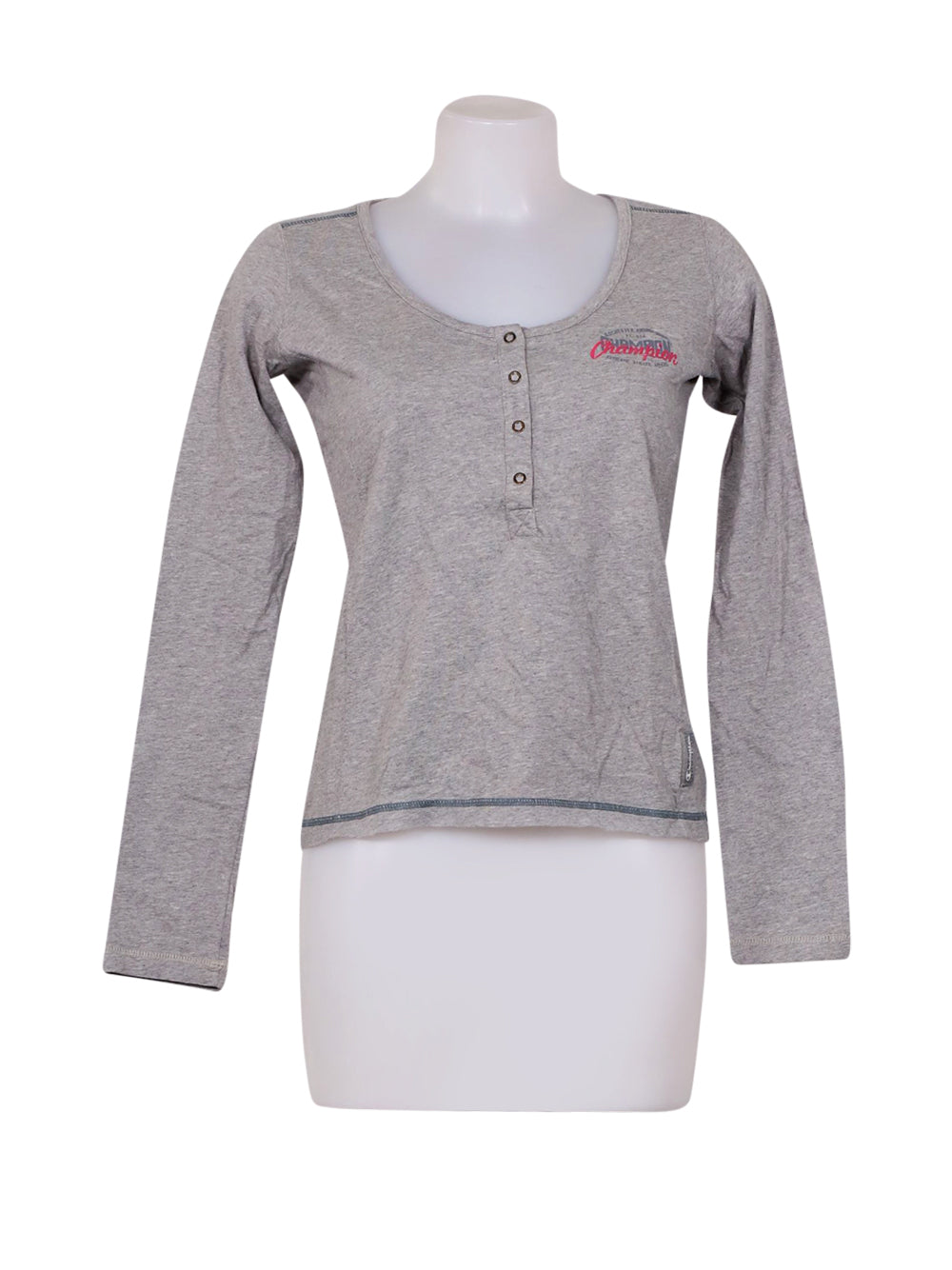 Front photo of Preloved Champion Grey Woman's long sleeved shirt - size 10/M