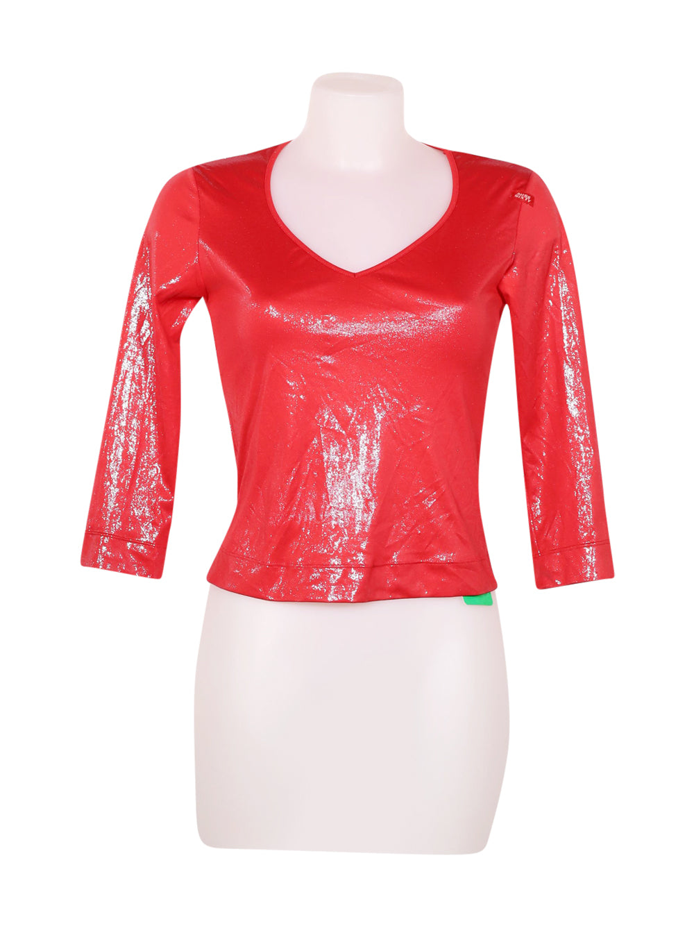 Front photo of Preloved Miss Sixty Red Woman's long sleeved shirt - size 12/L