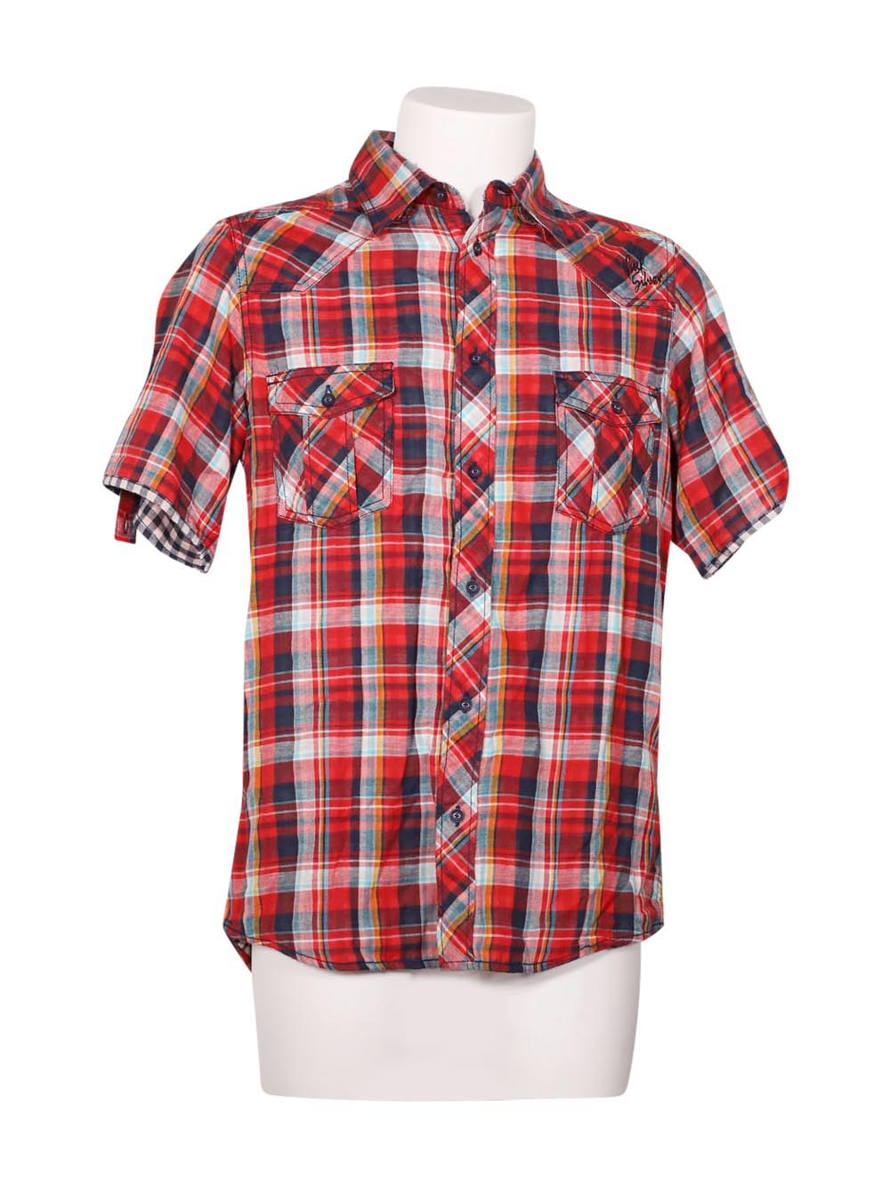 Front photo of Preloved Quiksilver Red Man's shirt - size 40/L