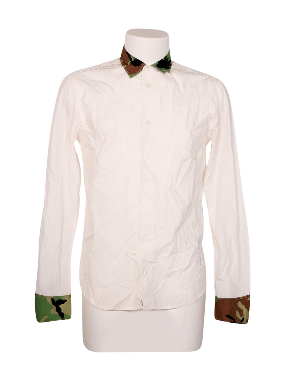 Front photo of Preloved Diesel White Man's shirt - size 40/L