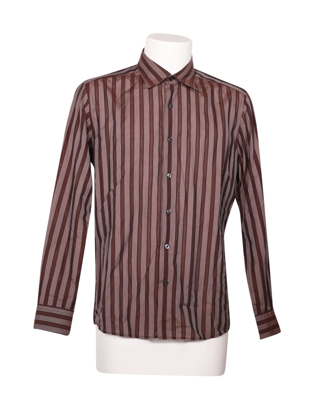 Front photo of Preloved barbieri Brown Man's shirt - size 40/L