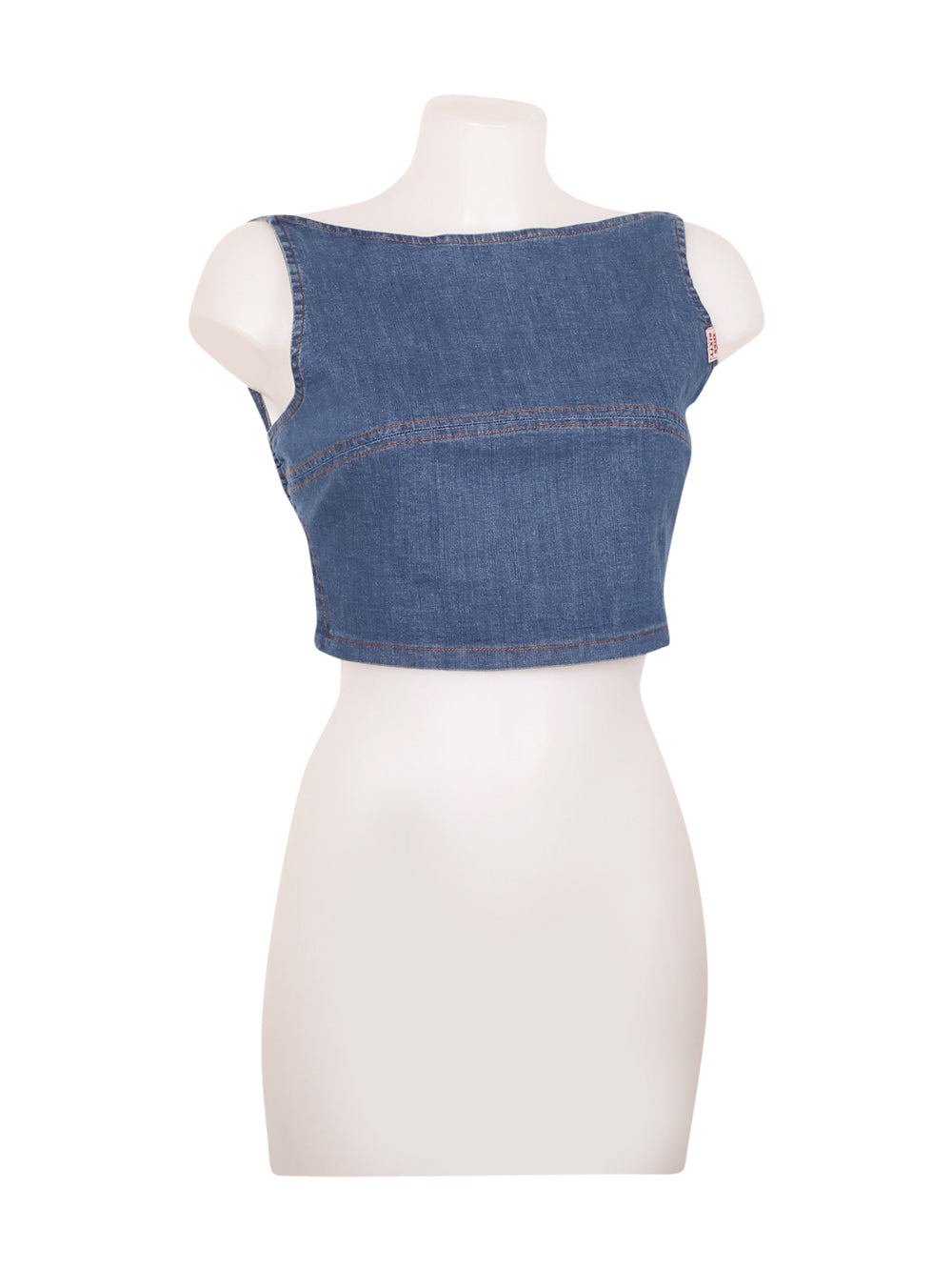 Front photo of Preloved Miss Sixty Blue Woman's sleeveless top - size 8/S