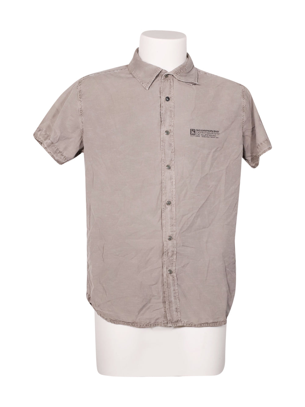 Front photo of Preloved Scorpion Bay Grey Man's shirt - size 40/L