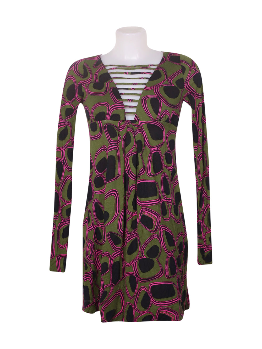 Front photo of Preloved Miss Sixty Green Woman's dress - size 8/S