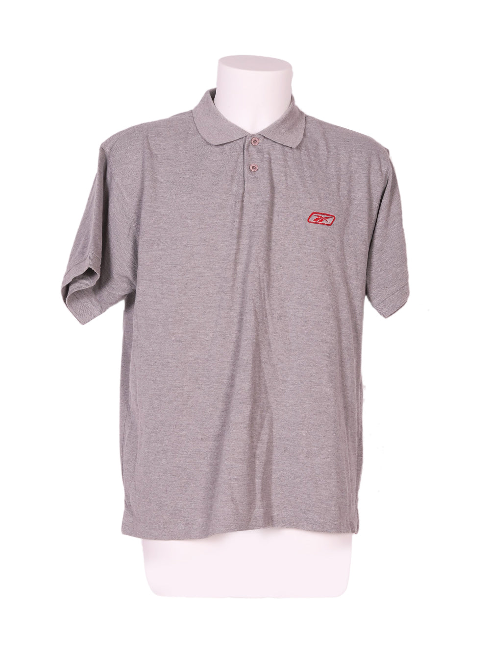 Front photo of Preloved Reebok Grey Man's polo - size 44/XXL
