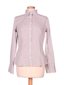 Front photo of Preloved Sisley White Woman's shirt - size 10/M