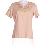 Front photo of Unworn celaia Beige Woman's t-shirt - size 10/M