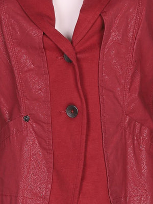 Detail photo of Preloved sandwich Bordeaux Woman's jacket - size 10/M