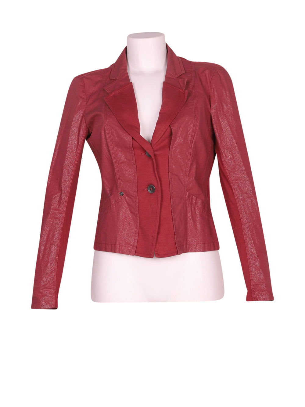 Front photo of Preloved sandwich Bordeaux Woman's jacket - size 10/M