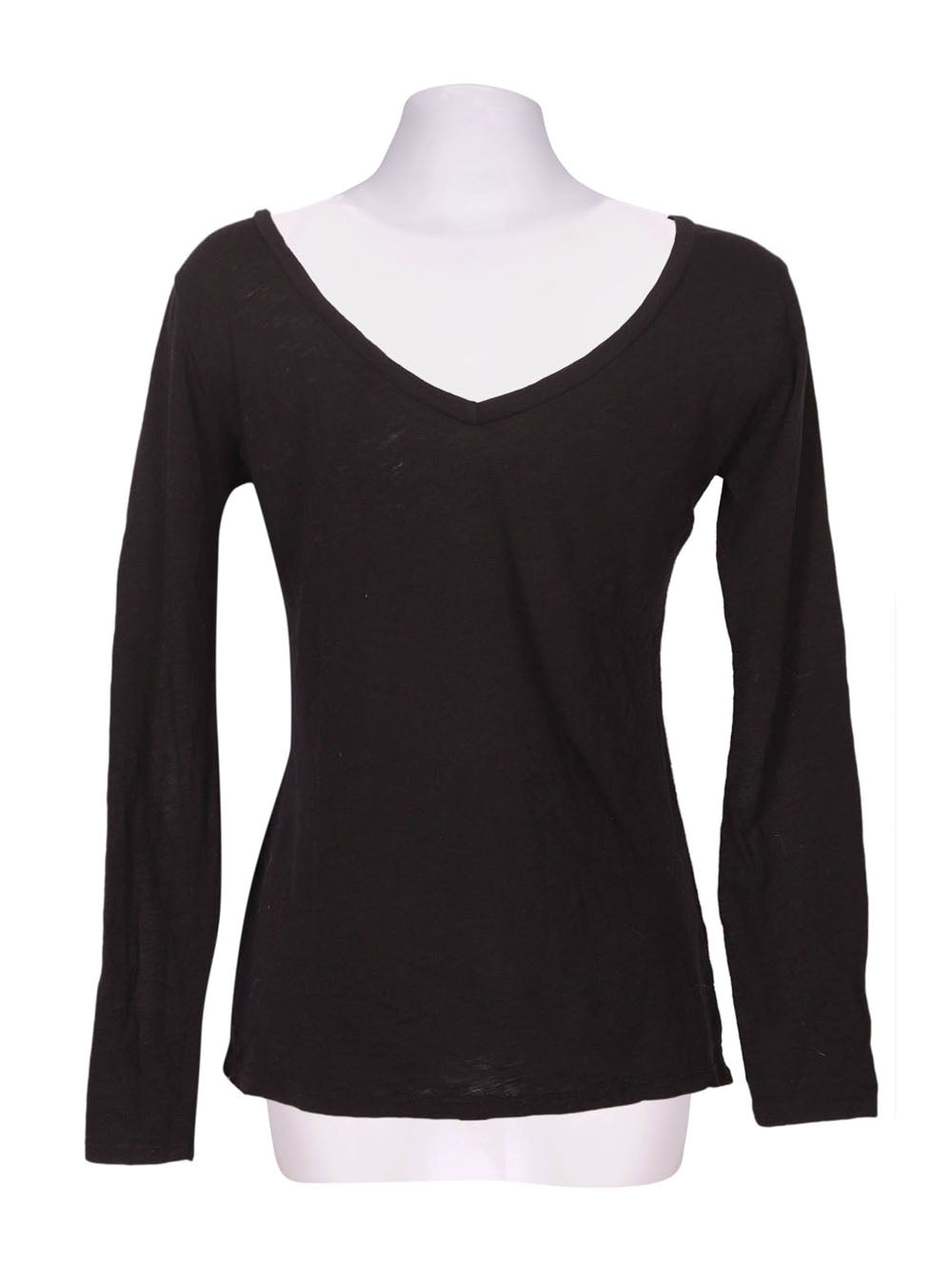 Back photo of Preloved RIANDA Black Woman's long sleeved shirt - size 8/S