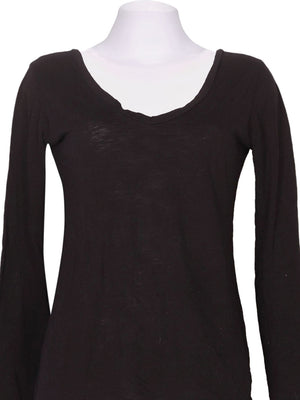 Detail photo of Preloved RIANDA Black Woman's long sleeved shirt - size 8/S