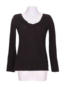 Front photo of Preloved RIANDA Black Woman's long sleeved shirt - size 8/S