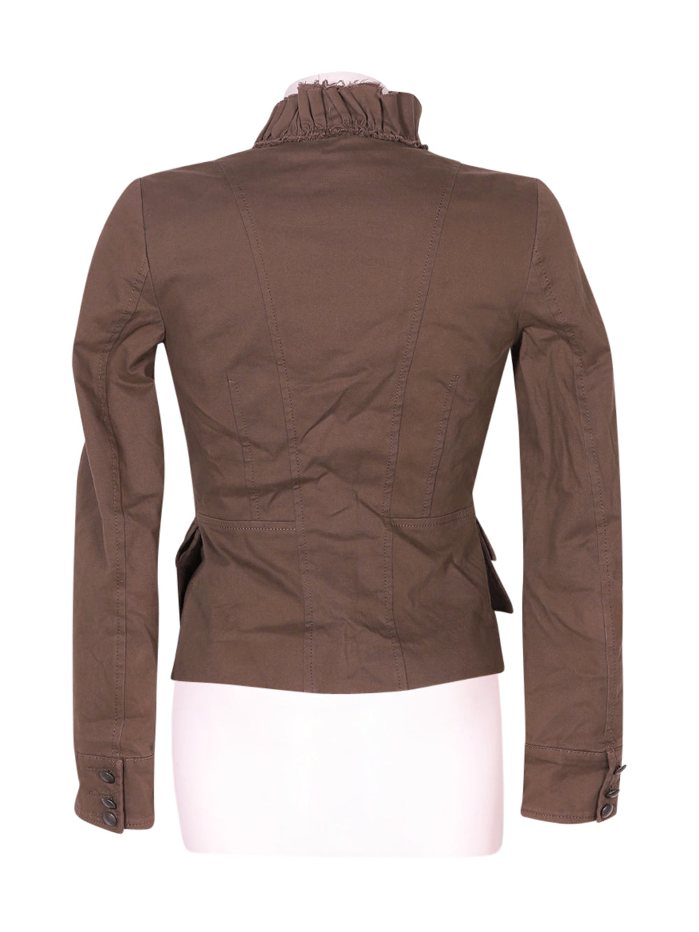 Back photo of Preloved MNG Brown Woman's jacket - size 4/XXS