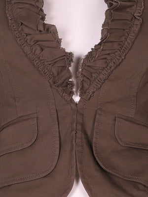 Detail photo of Preloved MNG Brown Woman's jacket - size 4/XXS