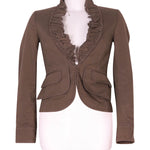 Front photo of Preloved MNG Brown Woman's jacket - size 4/XXS