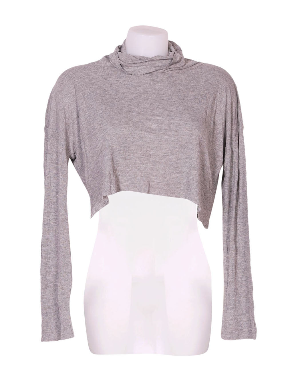 Front photo of Preloved Oysho Grey Woman's long sleeved shirt - size 10/M