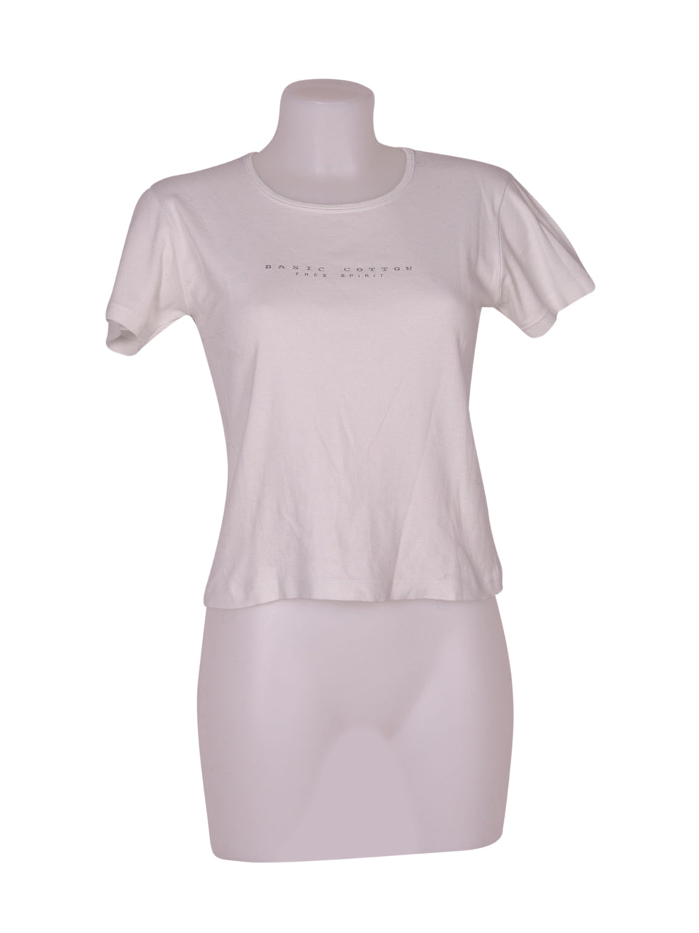 Front photo of Preloved free spirit White Woman's t-shirt - size 10/M