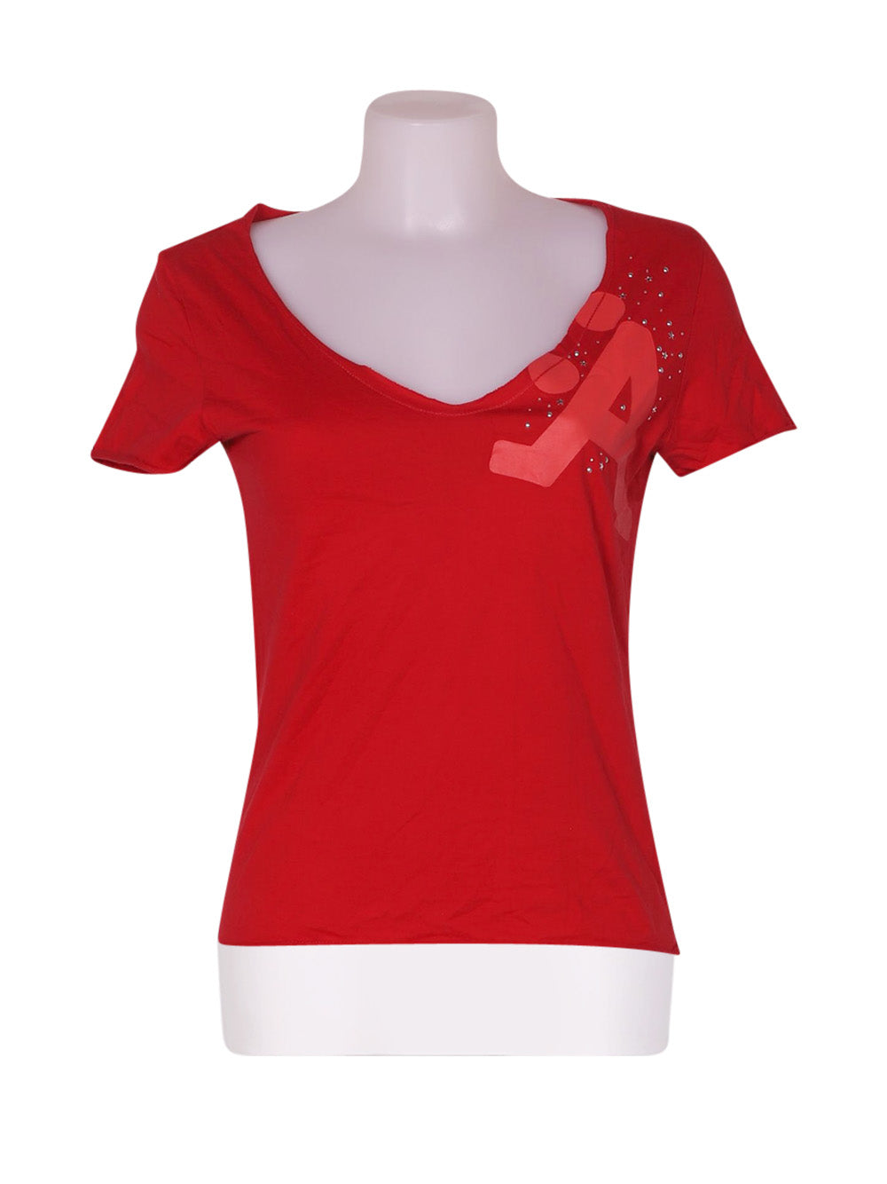 Front photo of Preloved Astyle Red Woman's t-shirt - size 8/S