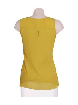 Back photo of Preloved Intimissimi Yellow Woman's sleeveless top - size 8/S
