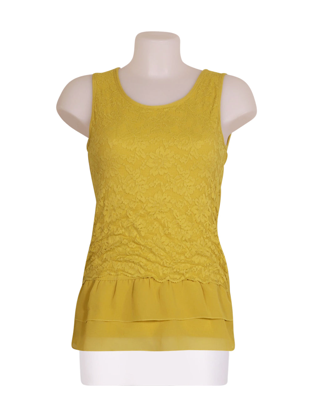 Front photo of Preloved Intimissimi Yellow Woman's sleeveless top - size 8/S