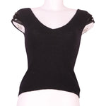 Front photo of Preloved Sisley Black Woman's sleeveless top - size 10/M
