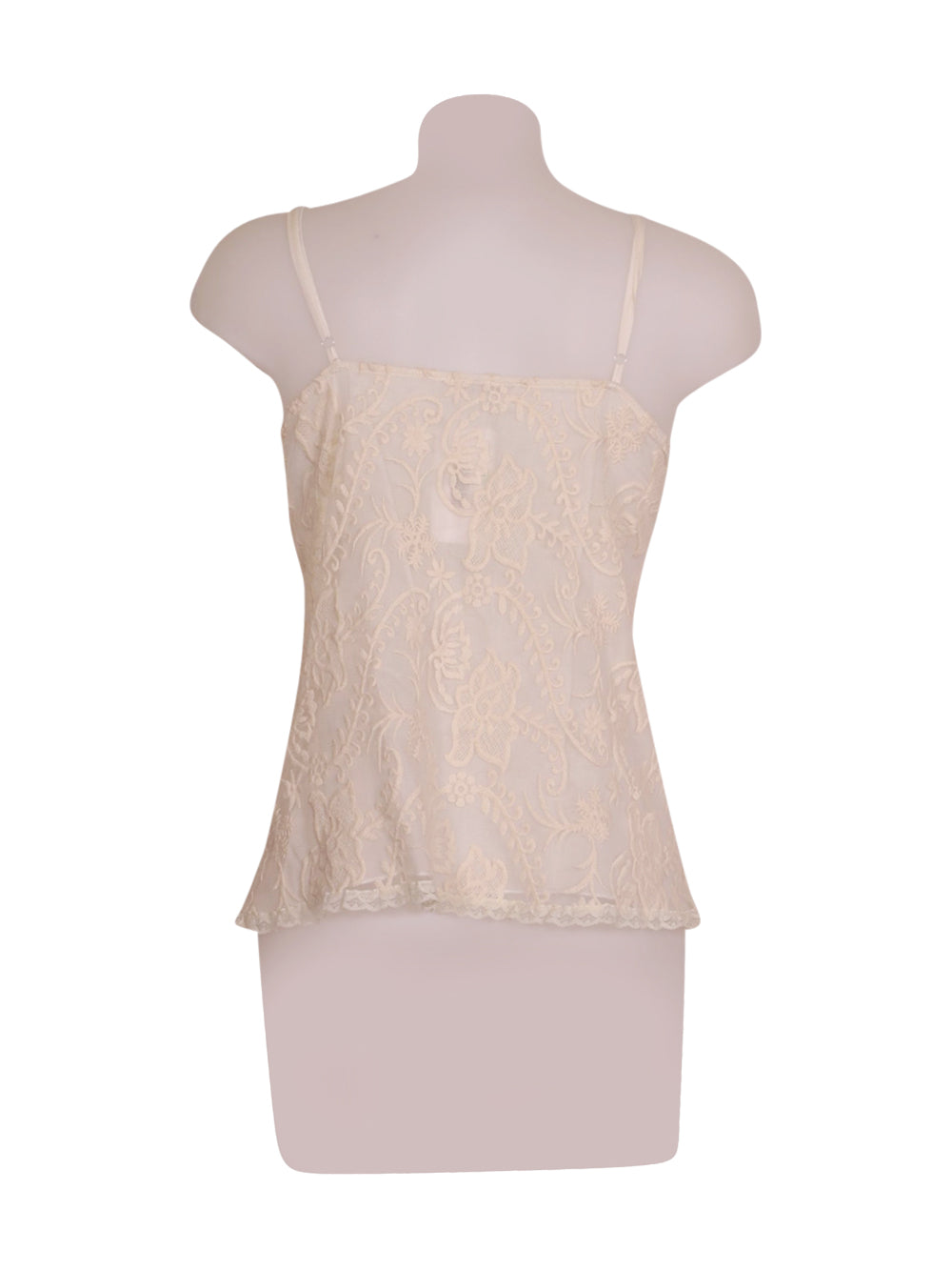 Back photo of Preloved Siste's White Woman's sleeveless top - size 10/M