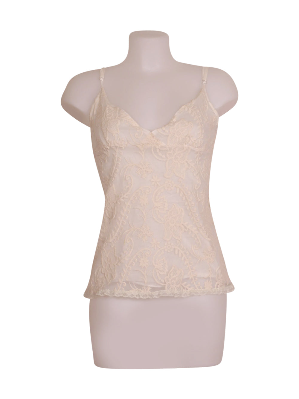 Front photo of Preloved Siste's White Woman's sleeveless top - size 10/M