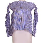 Front photo of Unworn Motivi Blue Woman's long sleeved shirt - size 12/L