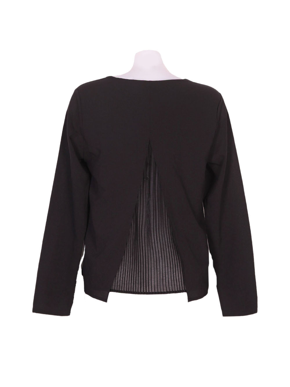 Back photo of Preloved Oltre Black Woman's long sleeved shirt - size 10/M