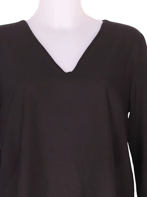Detail photo of Preloved Oltre Black Woman's long sleeved shirt - size 10/M