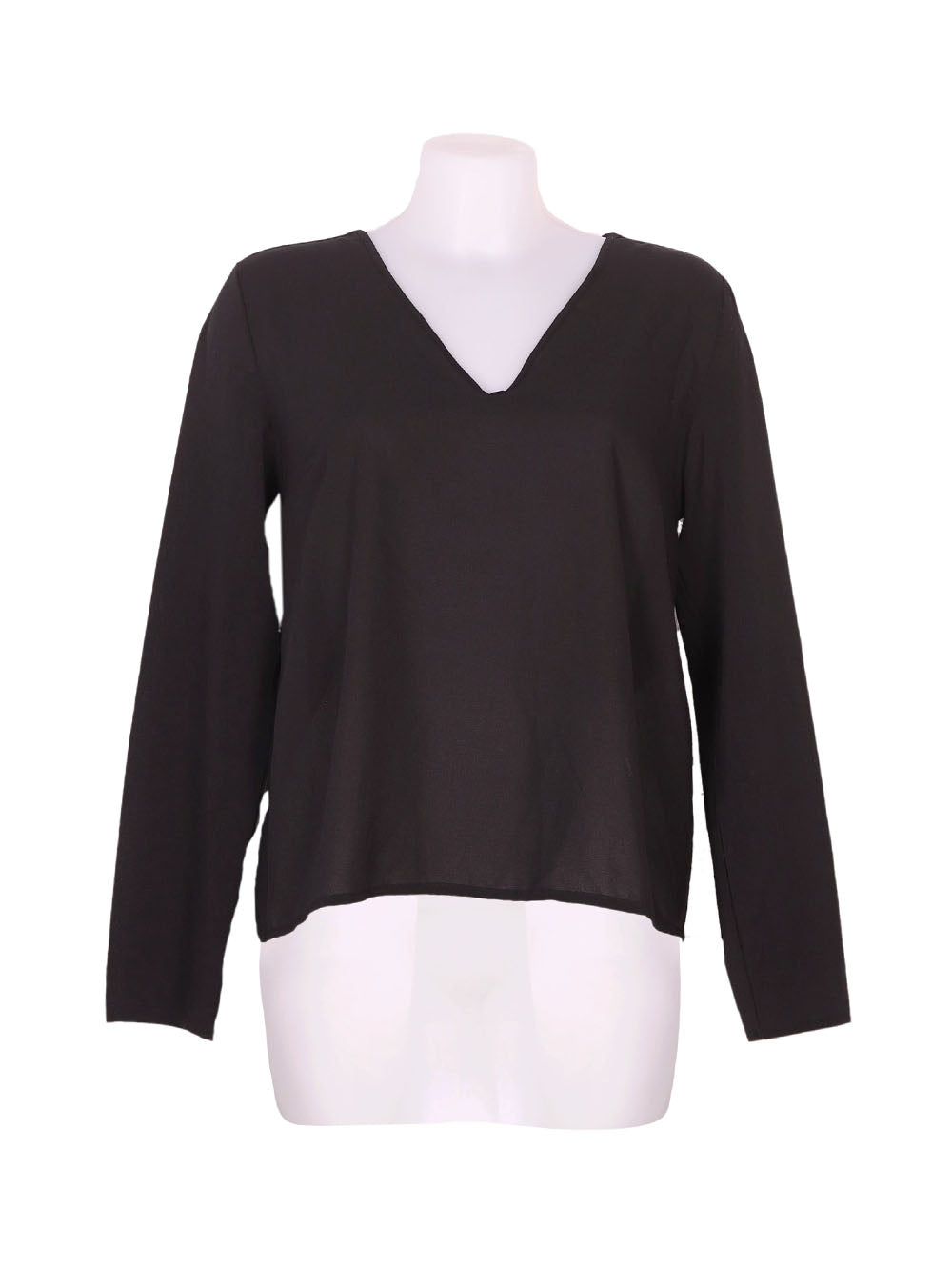 Front photo of Preloved Oltre Black Woman's long sleeved shirt - size 10/M