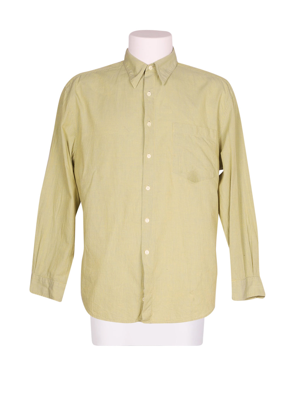 Front photo of Preloved reunion Green Man's shirt - size 40/L