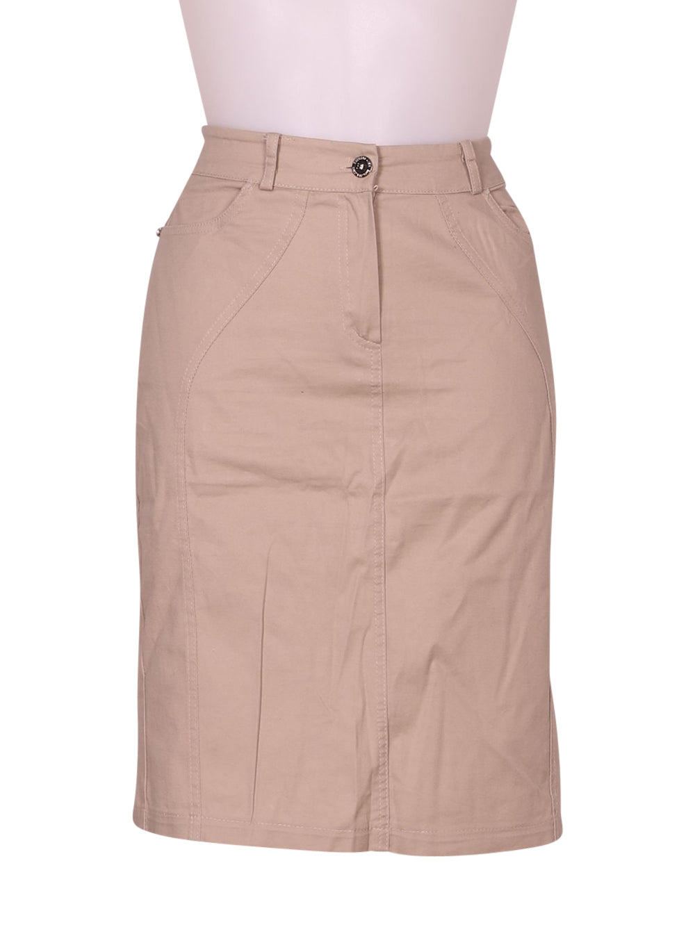 Front photo of Preloved Emanuela Costa Beige Woman's skirt - size 12/L
