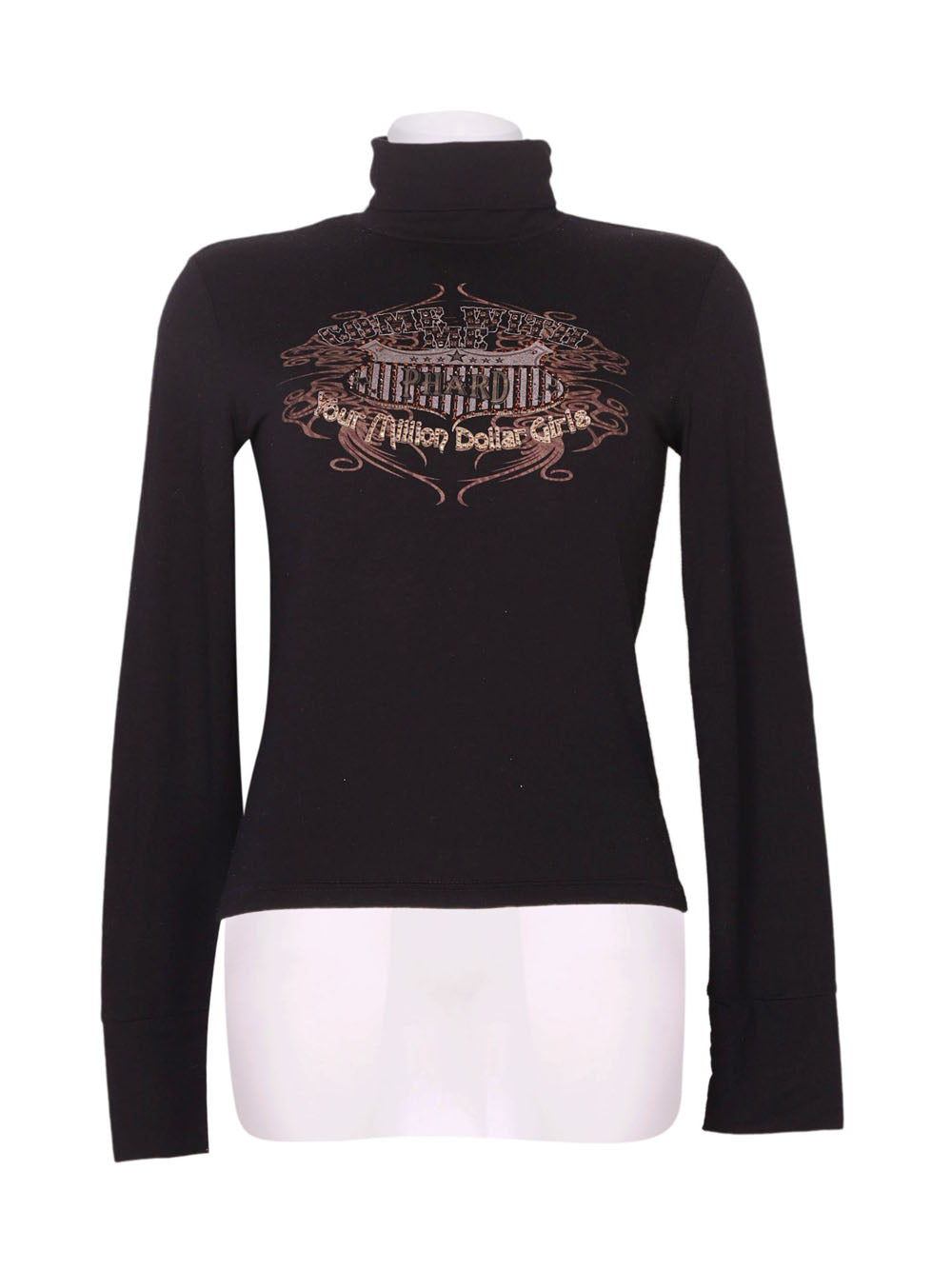 Front photo of Preloved Phard Black Woman's long sleeved shirt - size 8/S