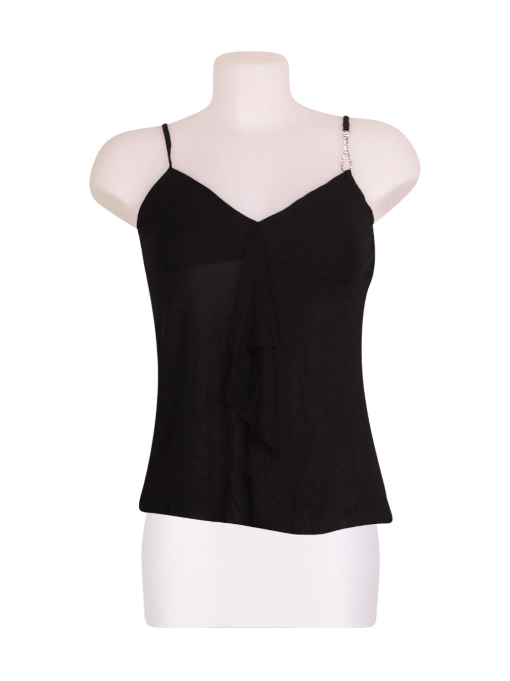 Front photo of Preloved Sisley Black Woman's sleeveless top - size 8/S