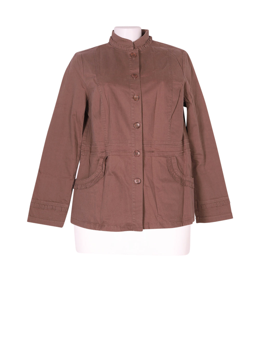 Front photo of Preloved celaia Brown Woman's jacket - size 14/XL