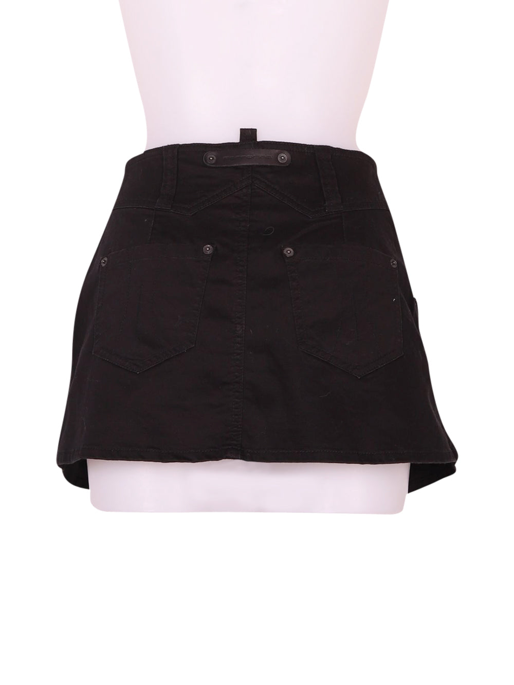 Back photo of Preloved Fornarina Black Woman's skirt - size 6/XS