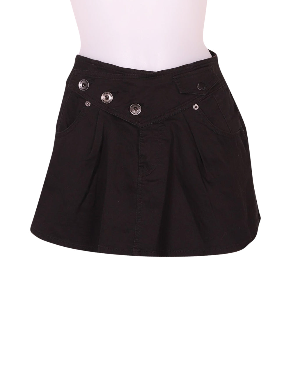Front photo of Preloved Fornarina Black Woman's skirt - size 6/XS