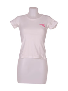 Front photo of Preloved Diadora White Woman's t-shirt - size 10/M