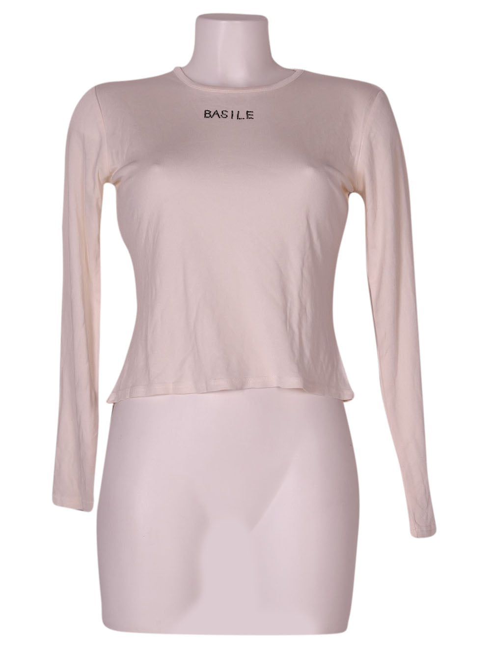 Front photo of Preloved Basile Beige Woman's long sleeved shirt - size 10/M