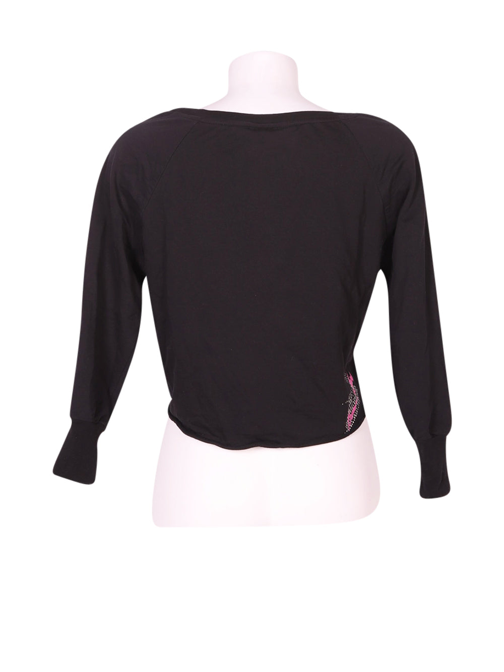 Back photo of Preloved Boxeur Des Rues Black Woman's long sleeved shirt - size 10/M