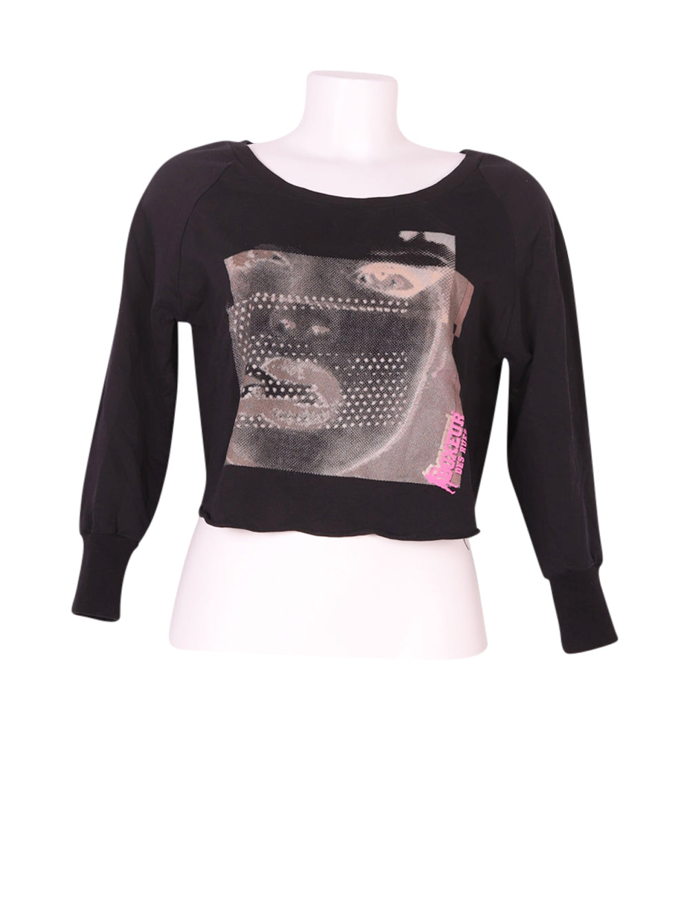 Front photo of Preloved Boxeur Des Rues Black Woman's long sleeved shirt - size 10/M