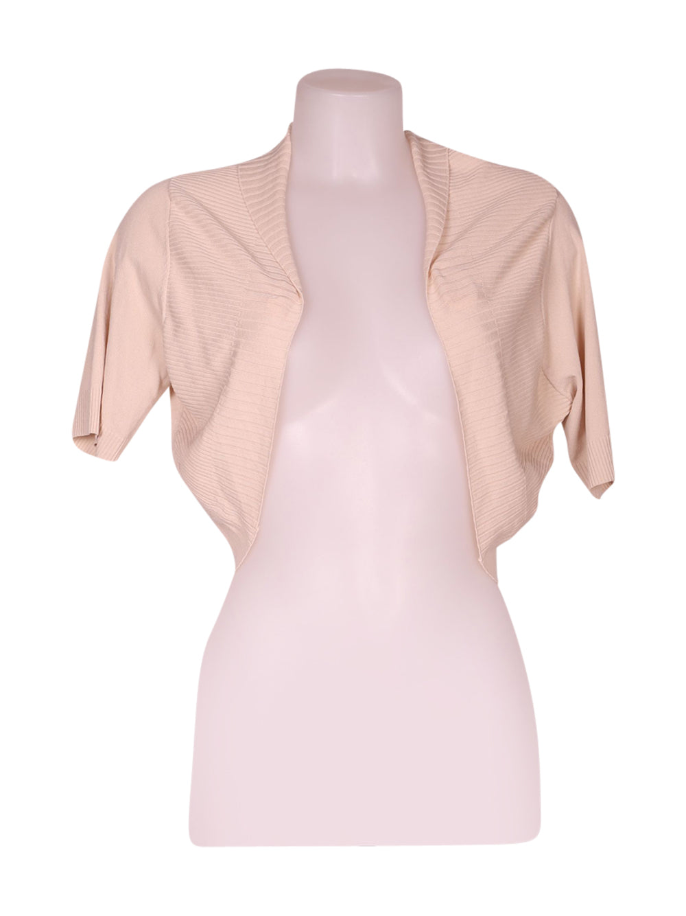 Front photo of Preloved annes nicole Beige Woman's bolero - size 12/L