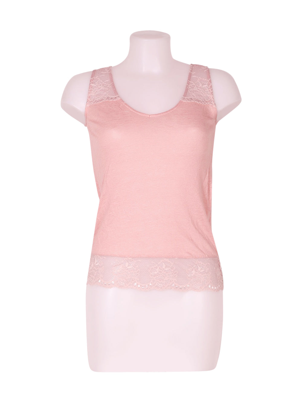 Front photo of Preloved Naf Naf Pink Woman's sleeveless top - size 6/XS