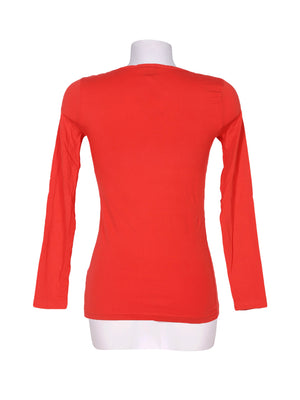 Back photo of Preloved Disney Orange Woman's long sleeved shirt - size 8/S