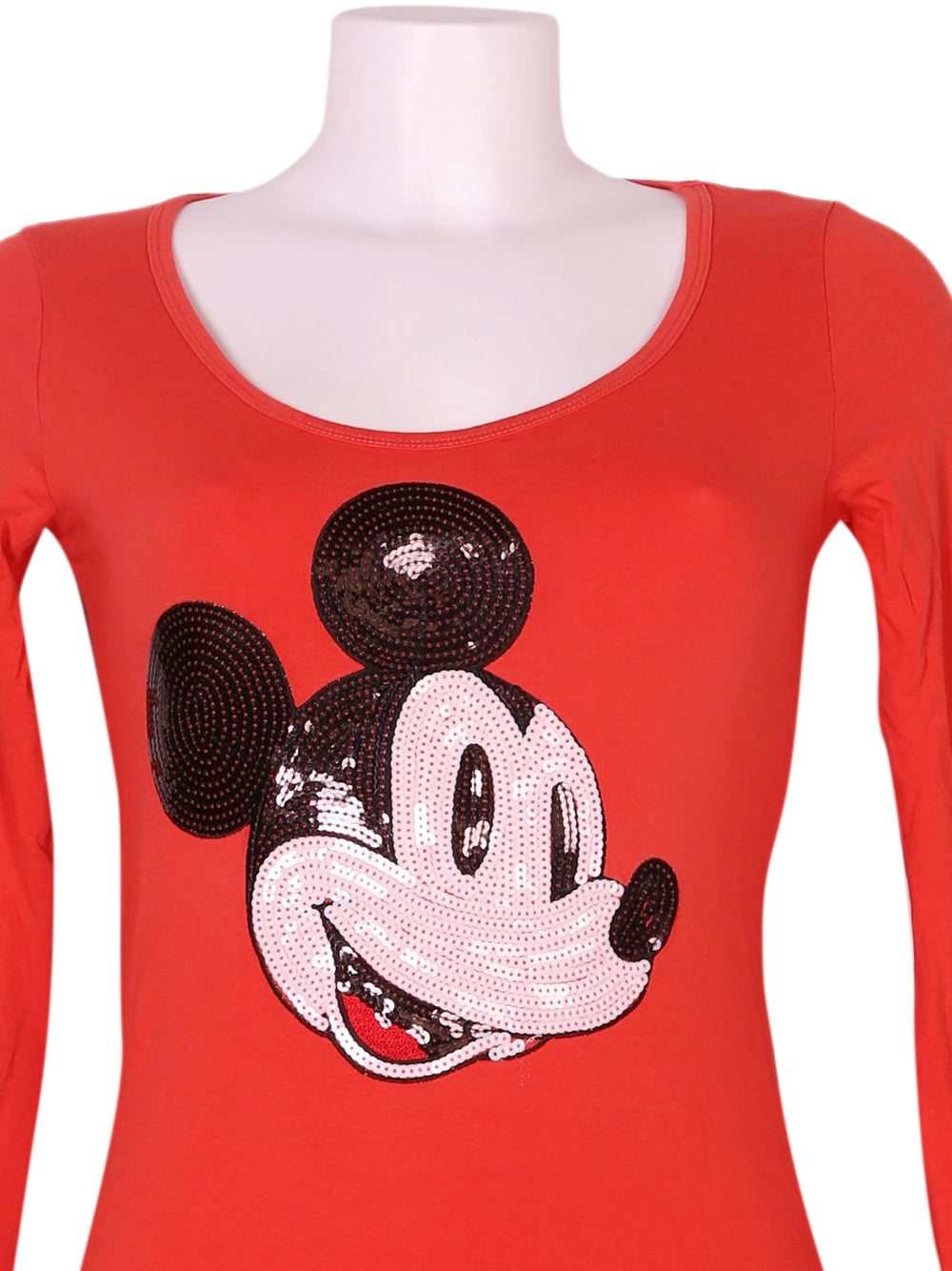 Detail photo of Preloved Disney Orange Woman's long sleeved shirt - size 8/S