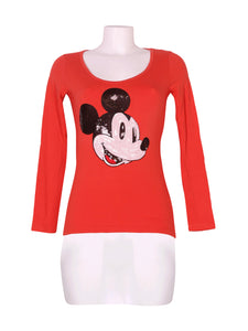 Front photo of Preloved Disney Orange Woman's long sleeved shirt - size 8/S