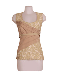 Front photo of Preloved be tween Beige Woman's sleeveless top - size 12/L
