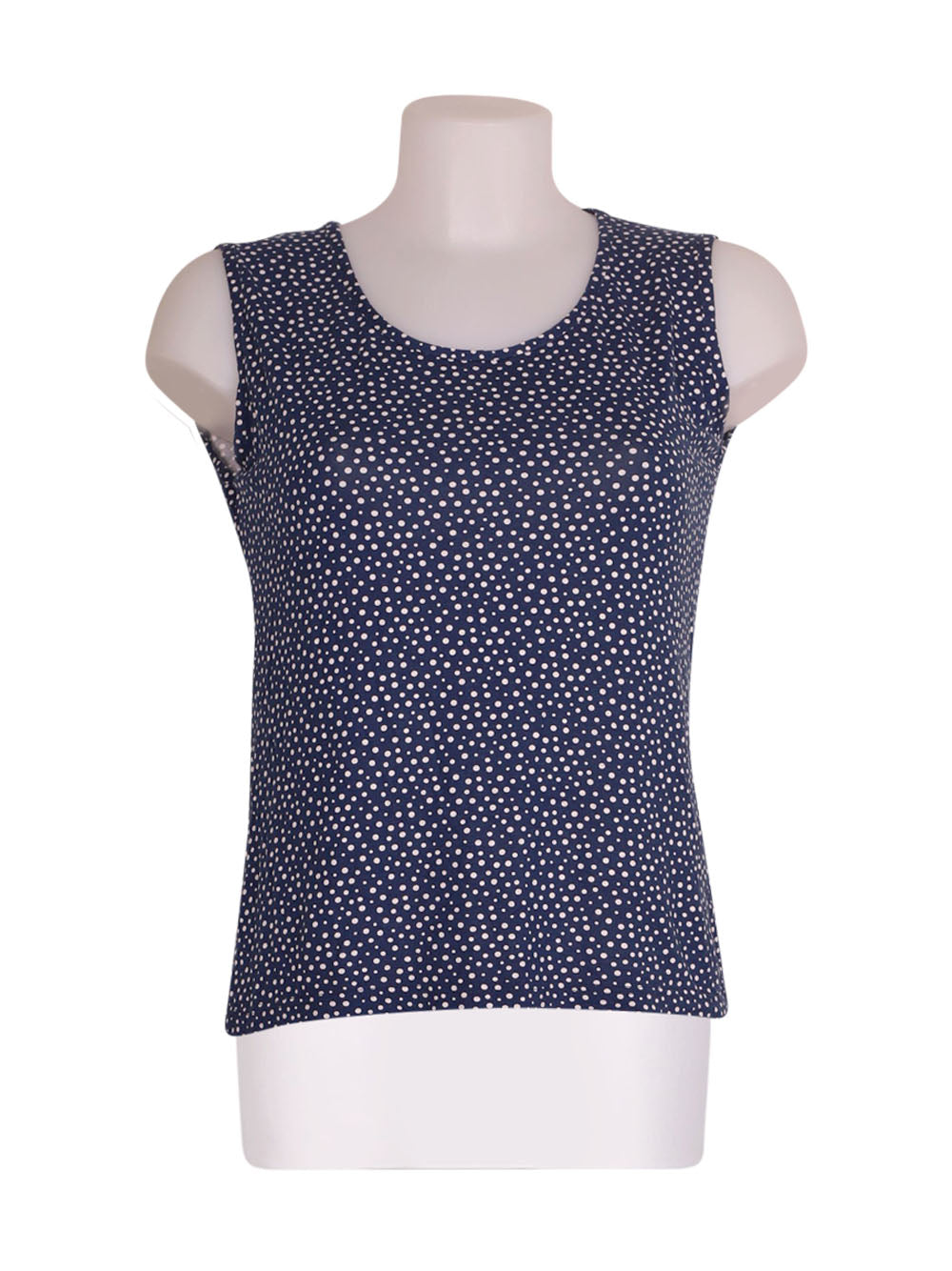 Front photo of Preloved gaia b Blue Woman's sleeveless top - size 8/S