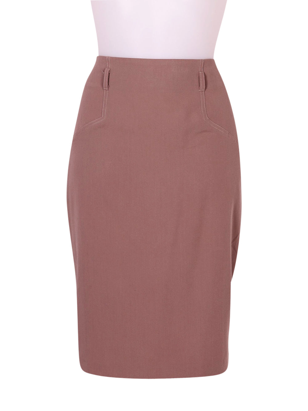 Front photo of Preloved Asos Beige Woman's skirt - size 8/S